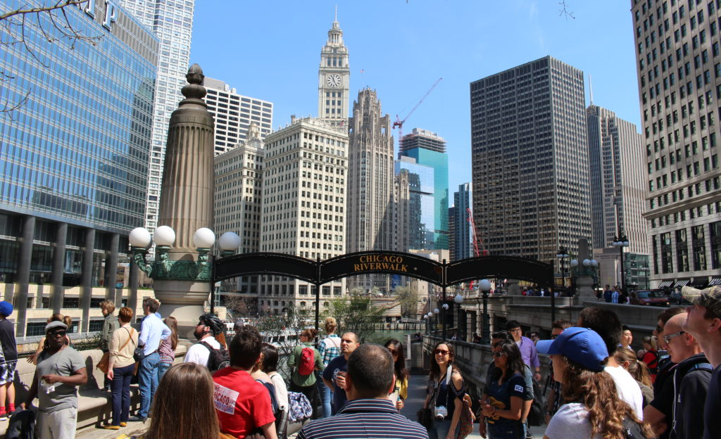 Chicago Riverwalk Walking Tour with Wrigley Building